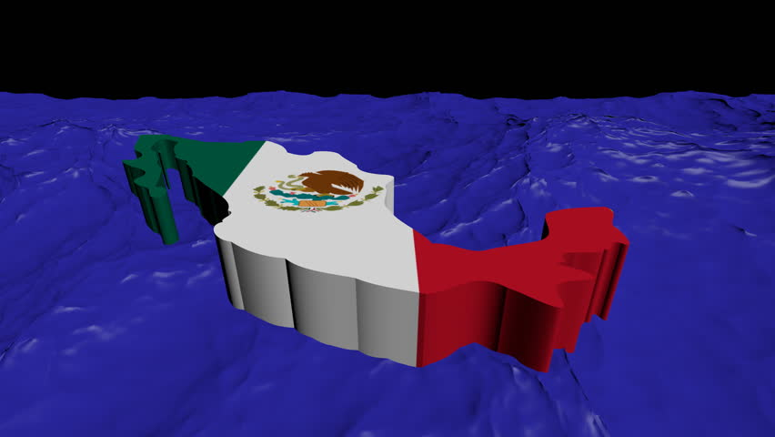 Mexico Map Flag In Abstract Stock Footage Video 100 Royalty Free