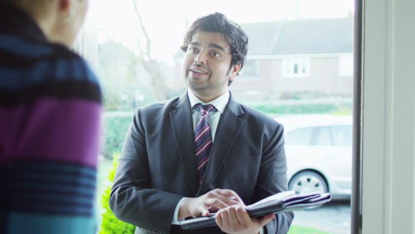 Door To Door Salesman Stock Footage Video | Shutterstock