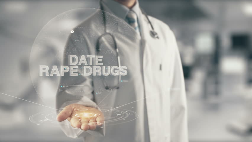Doctor holding in hand Date Rape Drugs