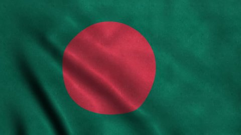 4K Seamless Loopable Flag of Bangladesh