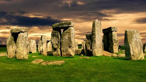 Stonehenge an ancient prehistoric stone monument near Salisbury, Wiltshire, UK