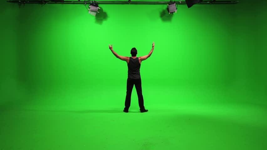 green screen male model standing