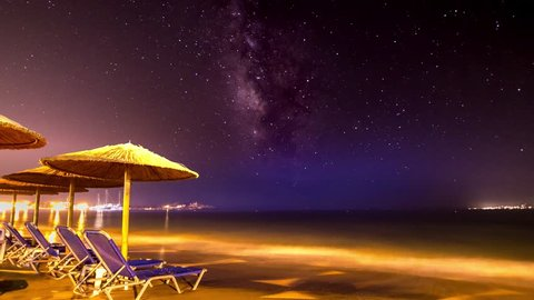 4K Night Timelapse of the Milky Way at Naxos Island, Cyclades, Greece Naxos06