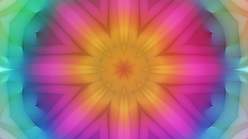 Kailey - Colorful Kaleidoscopic Video Background Loop /// Colorful kaleidoscopic patterns quickly change shape. This is a great animated background especially suited for musical events or clubs.