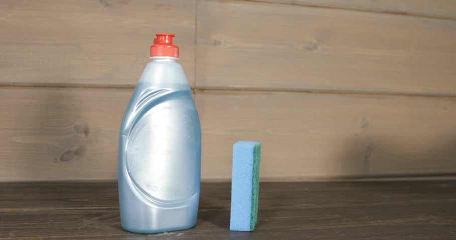 Detergent for utensils with a sponge of synthetic material | Shutterstock HD Video #32192743