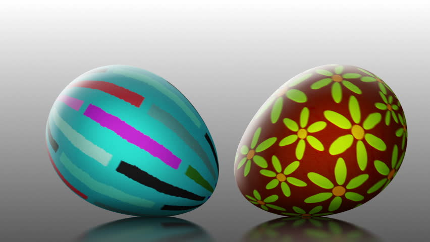 Easter Parade - Funny Easter Video Background Loop /// Rolling Easter eggs.. This is what a real Easter parade should look like :) A stylish and eye-catching animated video background for Easter time.