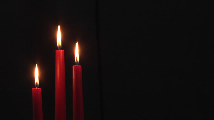 Group Of Three Burning Dark Red Dinner Candles With Black Background Copy E Stock Footage Video 322153 Shutterstock
