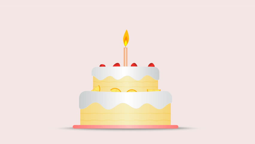 Stock Video Of Animation Of Flat Design Birthday Cake 32315803