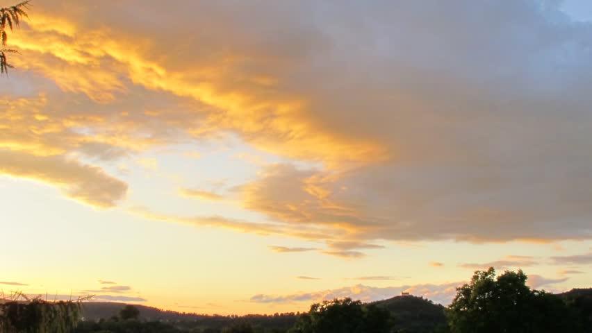 Sky timelapse in mid summer at dusk.