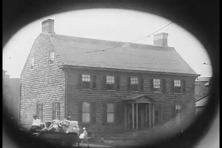 CIRCA 1926- A shot of Reverend Hannibal Goodwins house in Newark, New Jersey, where the fist photographic film was invented. | Shutterstock HD Video #32354983