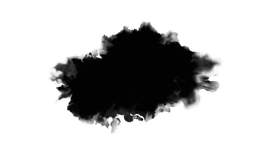 Black paint on white background