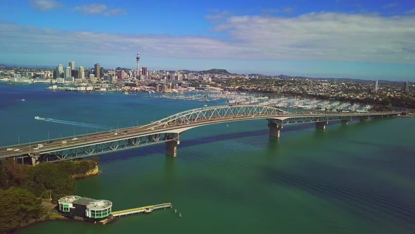 Aerial view of Auckland city. Downtown and CBD. #32387623