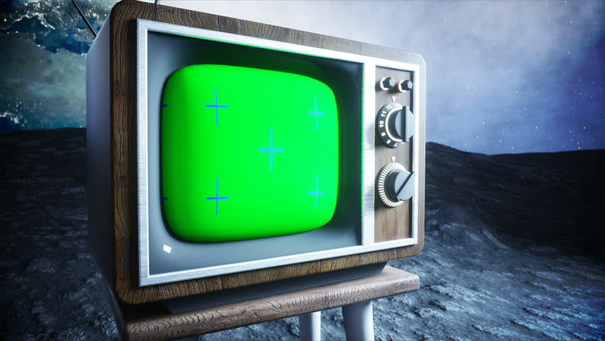 Alone astronaut on the moon watch old TV. Tracking your content. Ralistic 4K animation. | Shutterstock HD Video #32393293