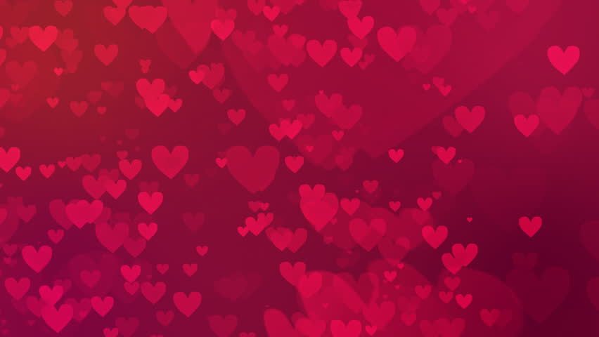 valentines day loopable abstract background flying hearts - Free Valentine
