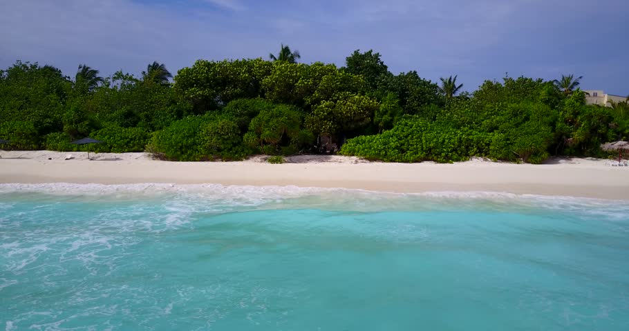 v13521 maldives white sand beach tropical islands with drone aerial flying birds eye view with aqua blue sea water and sunny sky