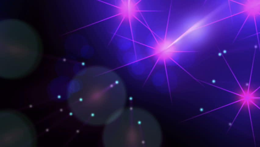 High Definition abstract CGI motion backgrounds ideal for editing, led backdrops or broadcasting featuring purple and pink star particles moving up and down
