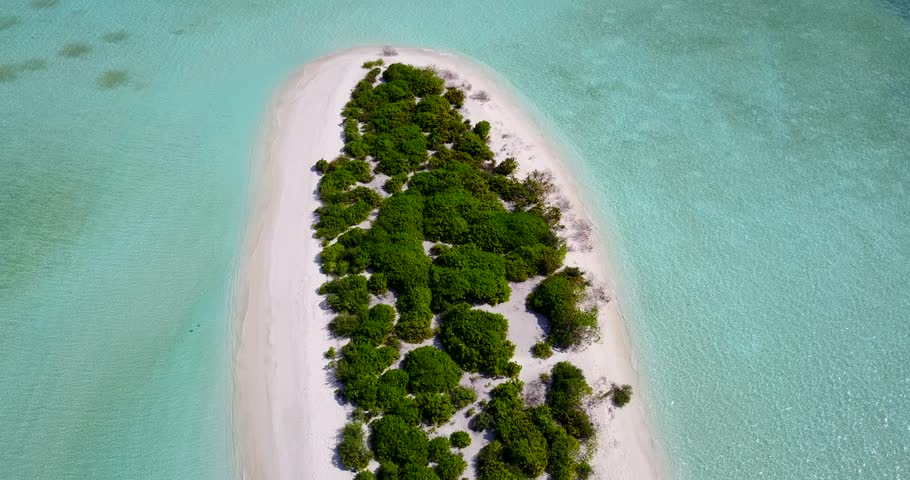 V14429 maldives white sand beach tropical islands with drone aerial flying birds eye view with aqua blue sea water and sunny sky | Shutterstock HD Video #32489032