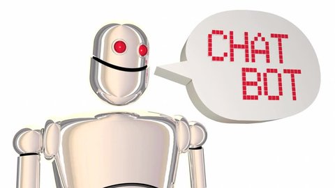 Chat Bot Automated Discussion Robot Speech Bubble 3d Animation