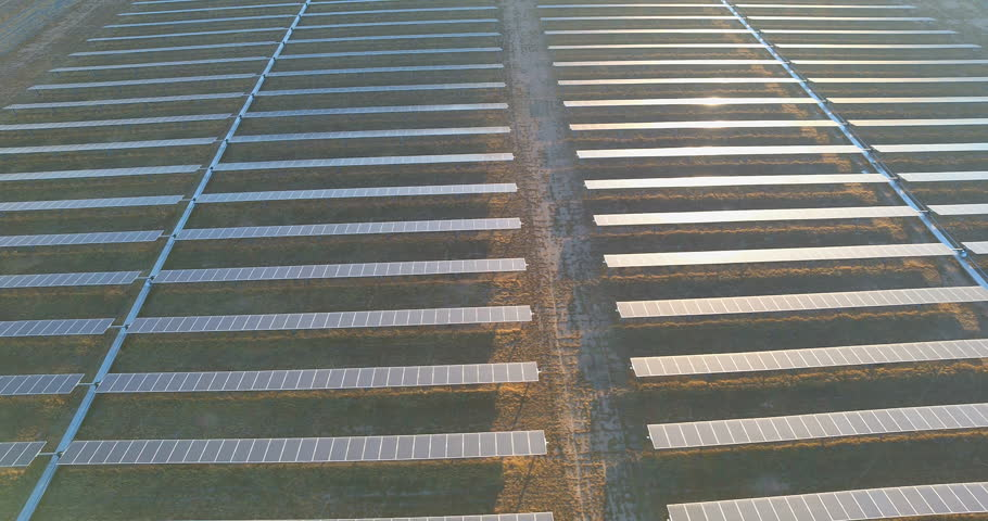 Aerial of Solar Panels in the Mojave High Desert | Shutterstock HD Video #32537773