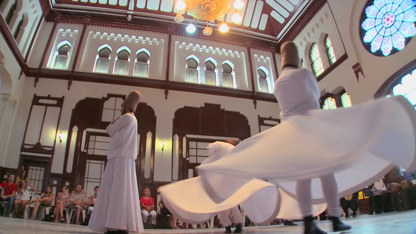 ISTANBUL, TURKEY 2012 Whirling dervishes perform a mystical dance in Istanbul, Turkey.