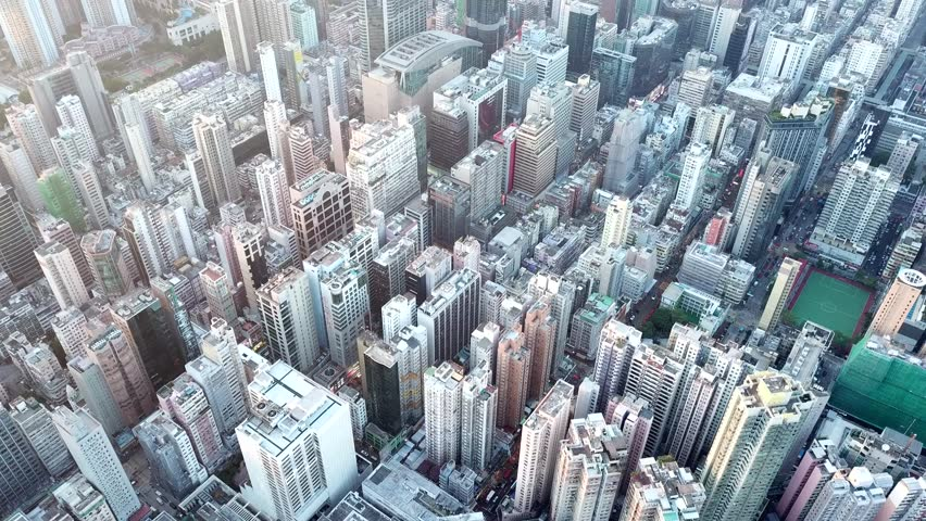 Hung Hom, Hong Kong, 02 November 2017:- Top view of Hong Kong city | Shutterstock HD Video #32602933
