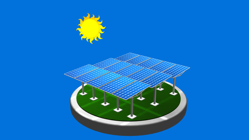 Detailed Animation Of A Solar Panel In Production Of