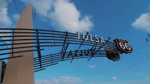 Tulsa Gate on historic Route 66 in Oklahoma