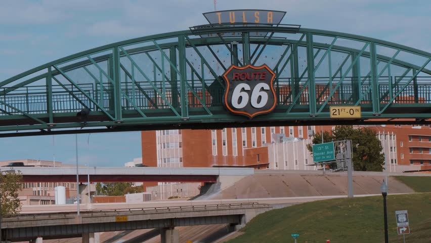 Famous bridge over Route 66 in Tulsa