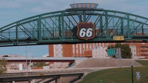Famous bridge over Route 66 in Tulsa