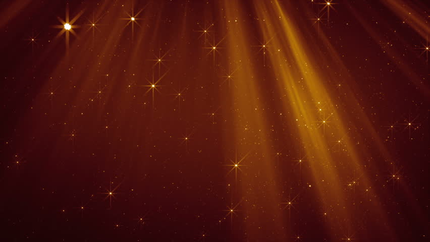 Flying golden particles in light beams