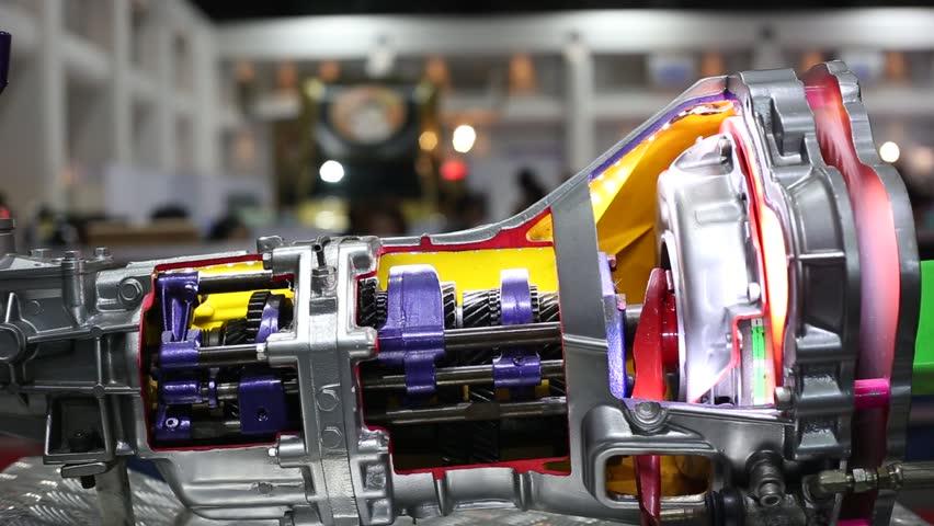 Car Automotive Transmission Technology Stock Footage Video