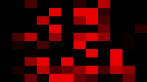 abstract red pixel block moving background New quality universal motion dynamic animated retro vintage colorful joyful dance music video footage