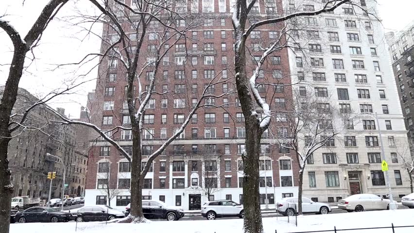 Snowy New York. NYC winter
