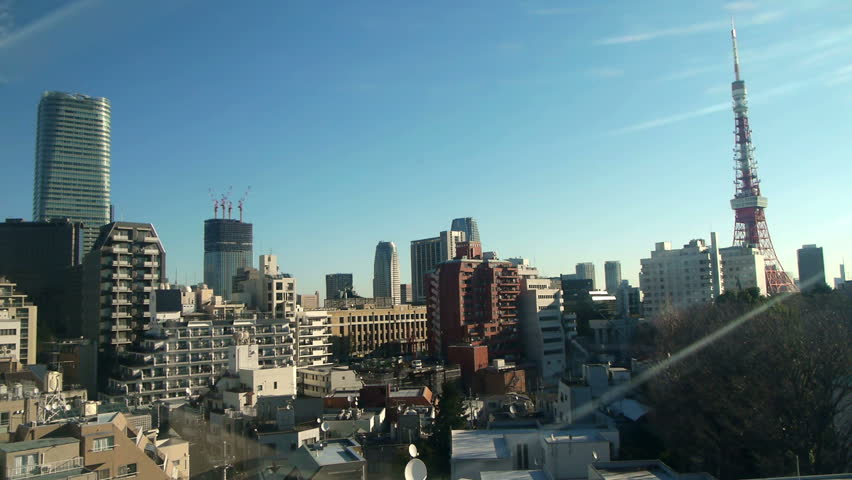 Tokyo skyline Timelapse and City under construction at Daytime