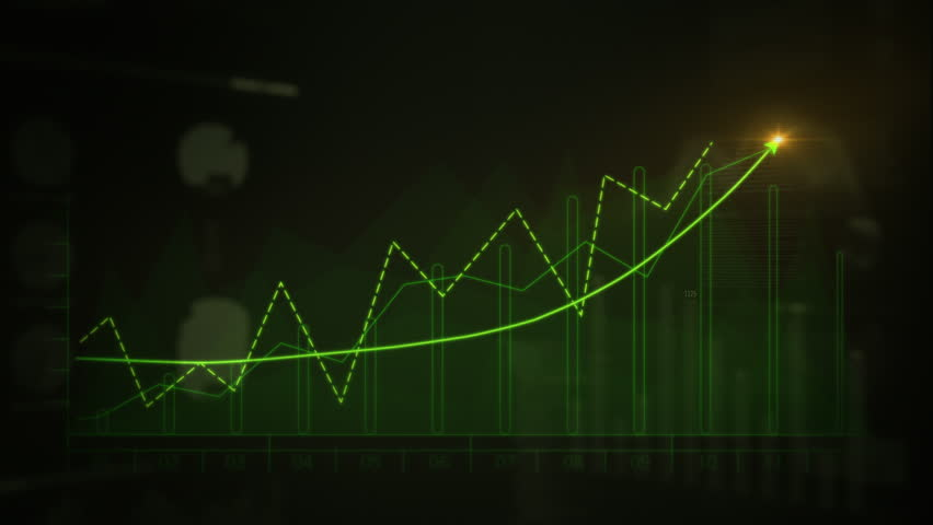Financial data and diagrams showing a steady increase in profits. Economy background. More color options in my portfolio. Green. | Shutterstock HD Video #32798023