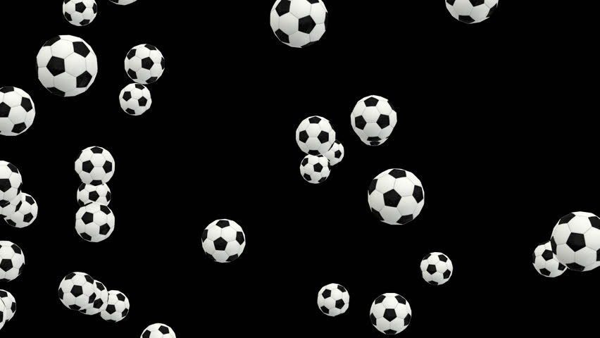 Animated exploding or bursting a lot of simple soccer balls with white and black material. Transparent background, alpha channel embedded with PNG file.   Shutterstock HD Video #32799760