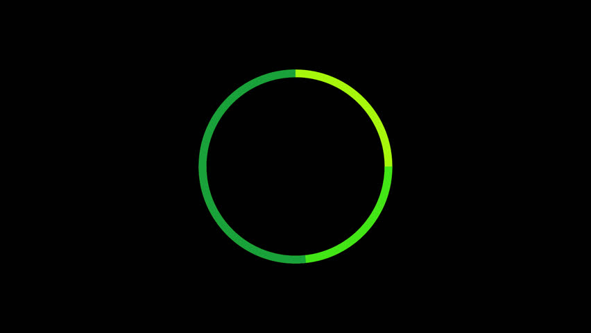 loading circle preloader rotating interface alpha channel render animation