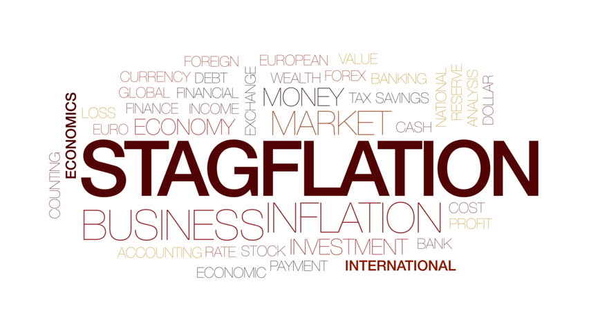 Stagflation animated word cloud, text design animation. Kinetic typography. | Shutterstock HD Video #32834047