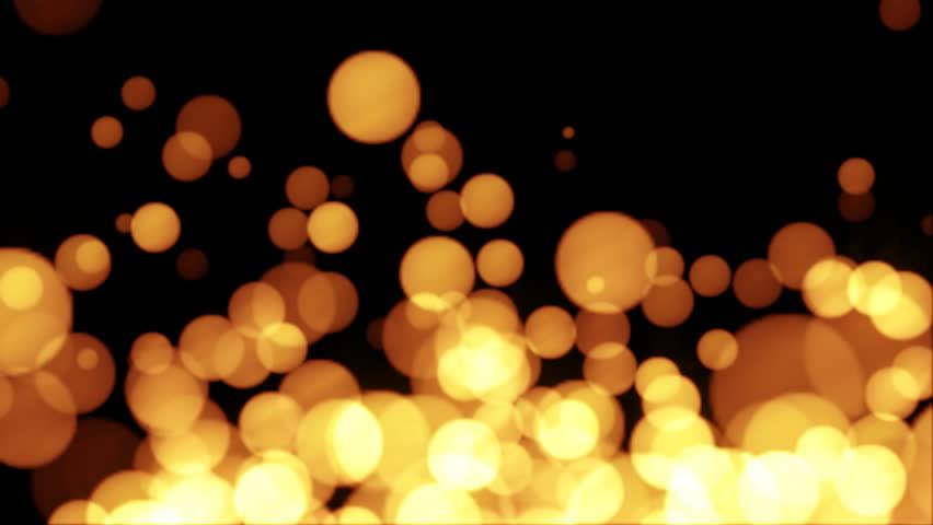Lens blur of golden moving lights | Shutterstock HD Video #328585