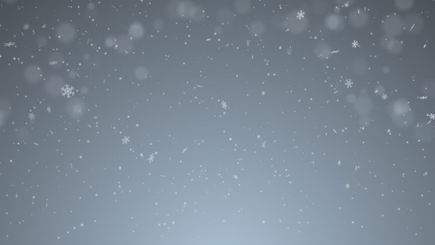 Winter snowfall on blured background with effect of bokeh. Snow motion at 25 fps, cgi animation. Realistic falling natural snow-flakes. Ready to use in Ney Year or winter video clip.