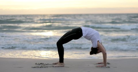 yoga bow pose stock video footage  4k and hd video clips