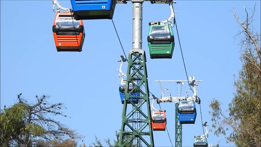Cable car ride in Santiago, Chile | Shutterstock HD Video #32930503
