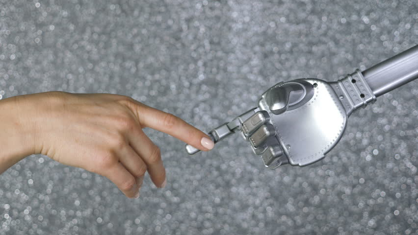 Female Hand and Robotic Hand Stock Footage Video (100% Royalty-free)  32958133   Shutterstock