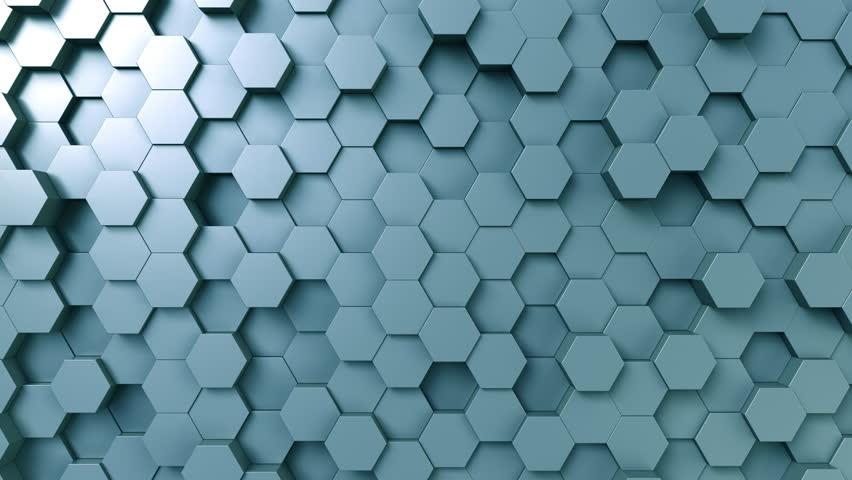 Abstract blue hexagonal motion background, seamless loop | Shutterstock HD Video #33016801