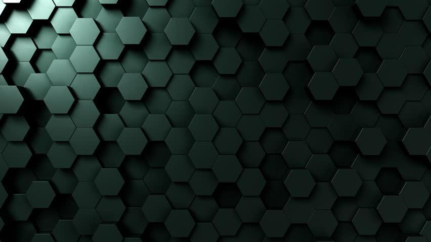 Dark green hexagonal motion background, seamless loop | Shutterstock HD Video #33017593