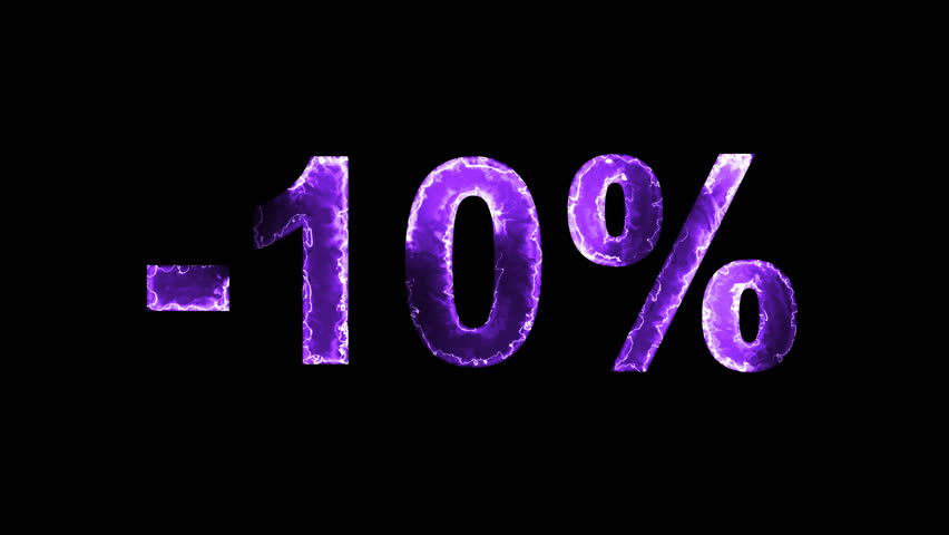 Luminous and shimmering haze inside the letters of the sale, discount, price, promotion, offer, promo, marketing, percent, tag, sale tag, -10%. Transparent, Alpha channel | Shutterstock HD Video #33019804