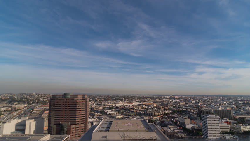 Downtown Los Angeles on a smoggy day Time Lapse 4k  DTLA | Shutterstock HD Video #33023038