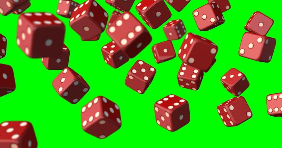 Dices falling green screen | Shutterstock HD Video #33026743