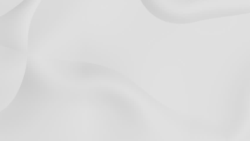 stylish white background with smooth surface waves - seamless looping (FULL HD)