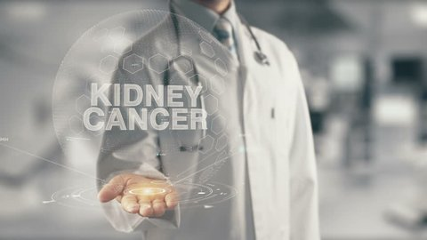 Doctor holding in hand Kidney Cancer